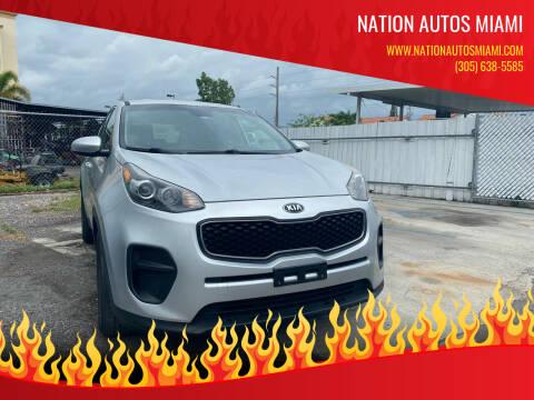 2017 Kia Sportage for sale at Nation Autos Miami in Hialeah FL