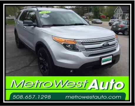 2015 Ford Explorer for sale at Metro West Auto in Bellingham MA