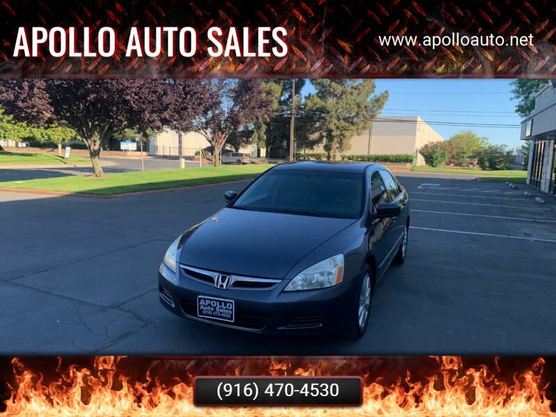 2007 Honda Accord for sale at APOLLO AUTO SALES in Sacramento CA