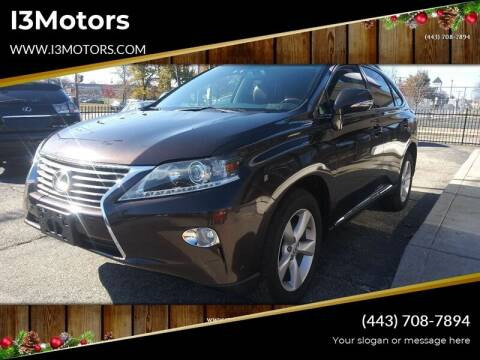 2014 Lexus RX 350 for sale at i3Motors in Baltimore MD