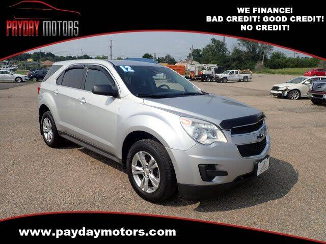 2012 Chevrolet Equinox for sale at Payday Motors in Wichita KS
