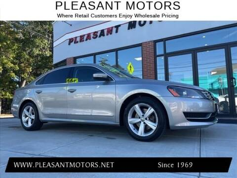 2013 Volkswagen Passat for sale at Pleasant Motors in New Bedford MA
