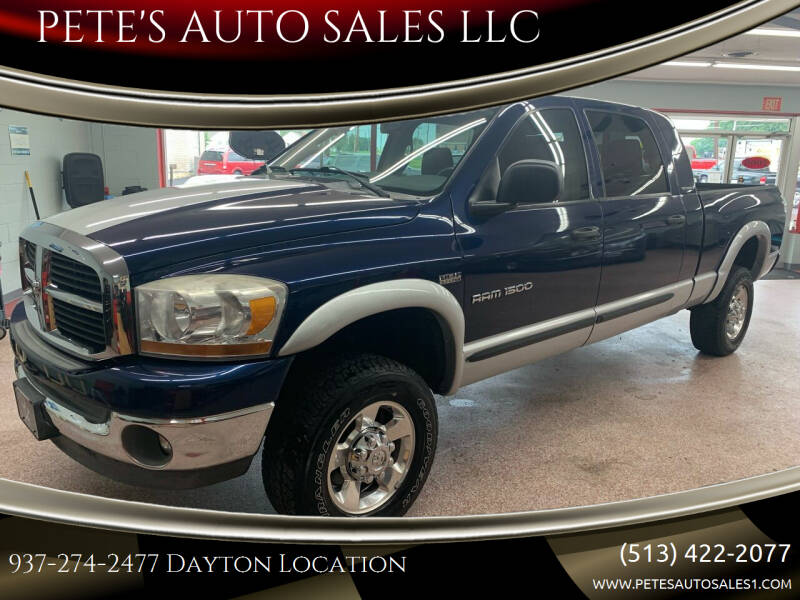 2006 Dodge Ram Pickup 1500 for sale at PETE'S AUTO SALES LLC - Dayton in Dayton OH
