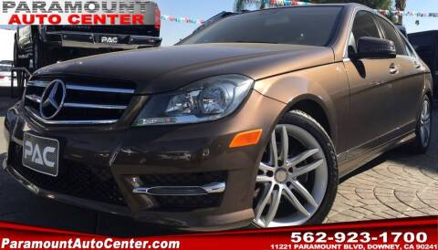 2014 Mercedes-Benz C-Class for sale at PARAMOUNT AUTO CENTER in Downey CA
