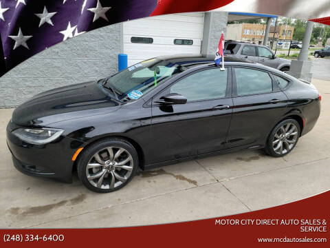 2016 Chrysler 200 for sale at Motor City Direct Auto Sales & Service in Pontiac MI