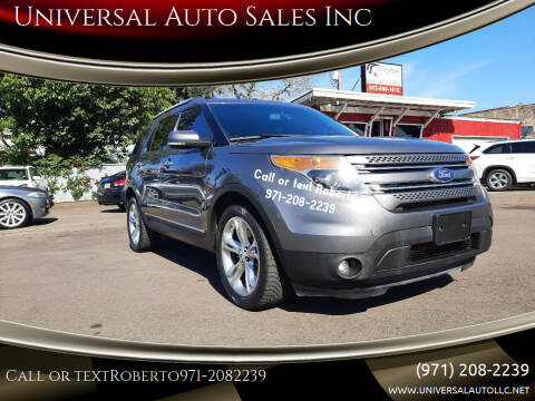 2013 Ford Explorer for sale at Universal Auto Sales Inc in Salem OR