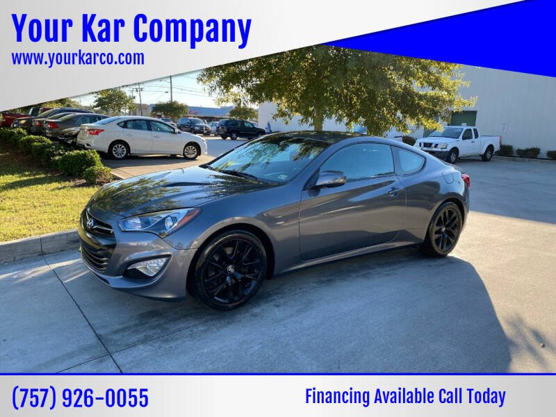 2014 Hyundai Genesis Coupe for sale at Your Kar Company in Norfolk VA