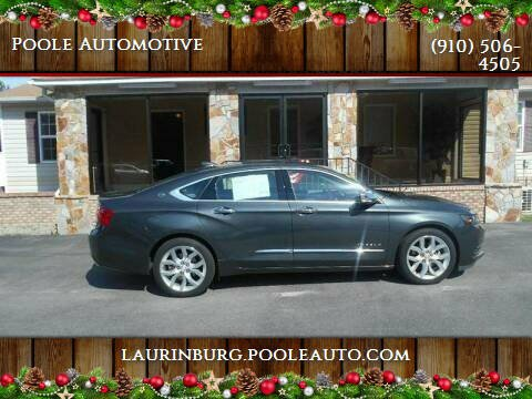2018 Chevrolet Impala for sale at Poole Automotive in Laurinburg NC