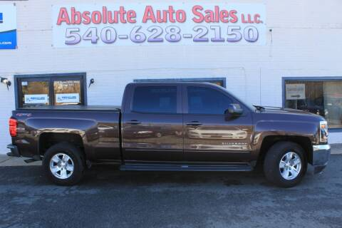 2016 Chevrolet Silverado 1500 for sale at Absolute Auto Sales in Fredericksburg VA