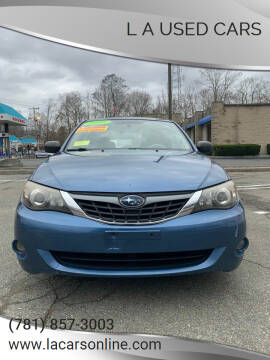 2008 Subaru Impreza for sale at L A Used Cars in Abington MA