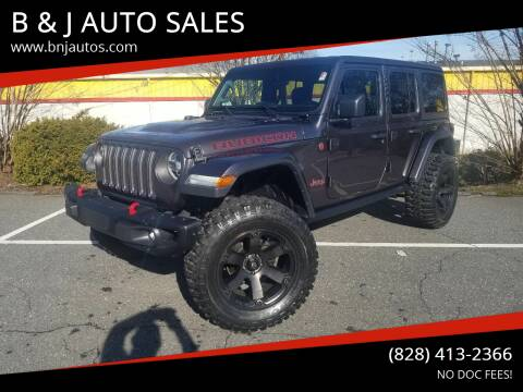 2018 Jeep Wrangler Unlimited for sale at B & J AUTO SALES in Morganton NC