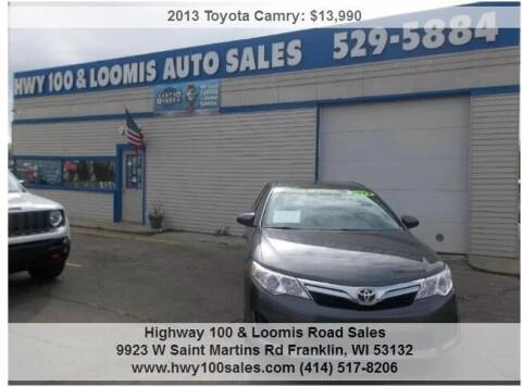 2013 Toyota Camry for sale at Highway 100 & Loomis Road Sales in Franklin WI