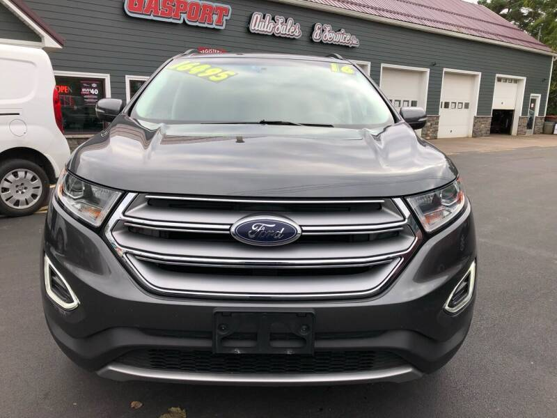 2016 Ford Edge for sale at GASPORT AUTO SALES AND SERVICE,INC in Gasport NY