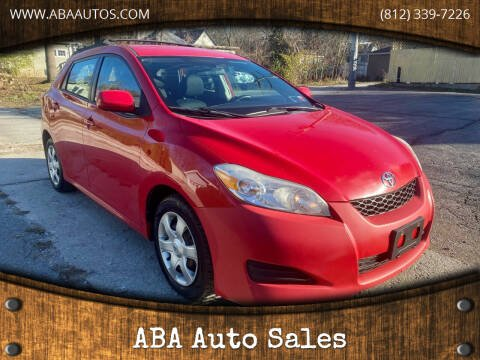2010 Toyota Matrix for sale at ABA Auto Sales in Bloomington IN