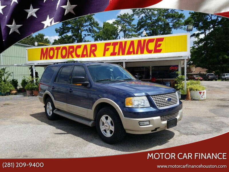 2005 Ford Expedition for sale at MOTOR CAR FINANCE in Houston TX