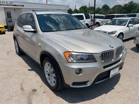 2013 BMW X3 for sale at KAYALAR MOTORS in Houston TX