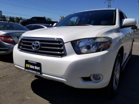 2008 Toyota Highlander for sale at 916 Auto Mart ONLY $399 DOWN!!!* in Sacramento CA