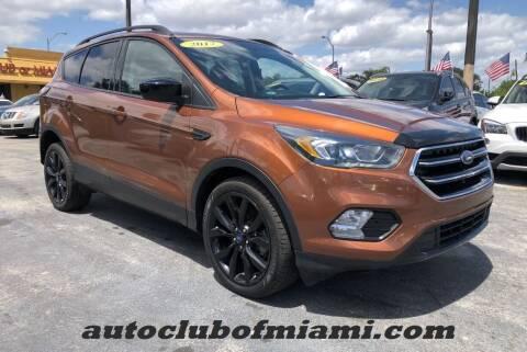 2017 Ford Escape for sale at AUTO CLUB OF MIAMI in Miami FL