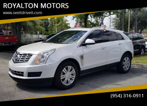 2016 Cadillac SRX for sale at ROYALTON MOTORS in Plantation FL