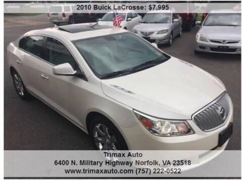 2010 Buick LaCrosse for sale at Trimax Auto Group in Norfolk VA
