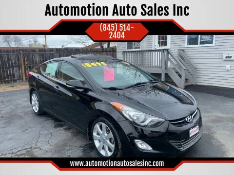 2013 Hyundai Elantra for sale at Automotion Auto Sales Inc in Kingston NY