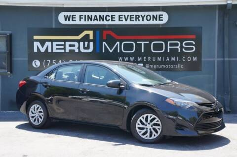2018 Toyota Corolla for sale at Meru Motors in Hollywood FL