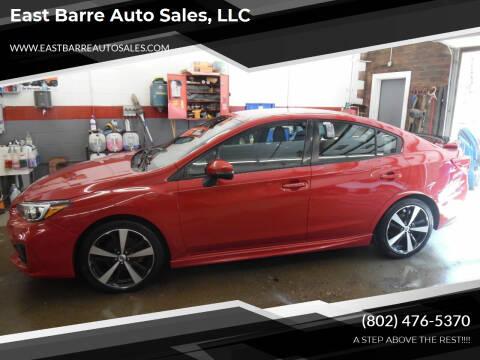 2017 Subaru Impreza for sale at East Barre Auto Sales, LLC in East Barre VT