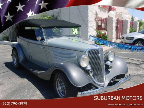 1934 Ford PHAETON for sale at Suburban Motors in Tucson AZ