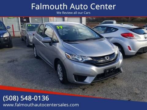 2017 Honda Fit for sale at Falmouth Auto Center in East Falmouth MA