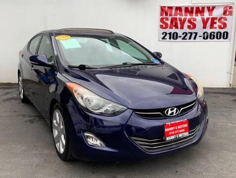 2013 Hyundai Elantra for sale at Manny G Motors in San Antonio TX
