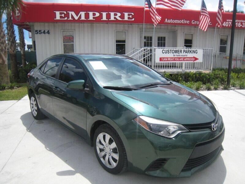 2016 Toyota Corolla for sale at Empire Automotive Group Inc. in Orlando FL