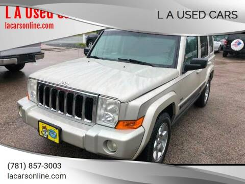 2007 Jeep Commander for sale at L A Used Cars in Abington MA