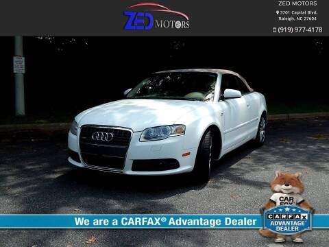 2009 Audi A4 for sale at Zed Motors in Raleigh NC
