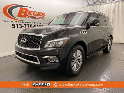 2017 Infiniti QX80 for sale at Becks Auto Group in Mason OH