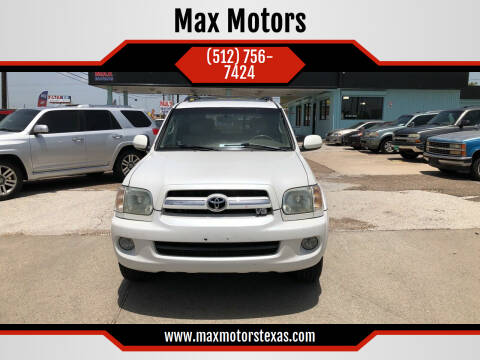 2006 Toyota Sequoia for sale at Max Motors in Corpus Christi TX