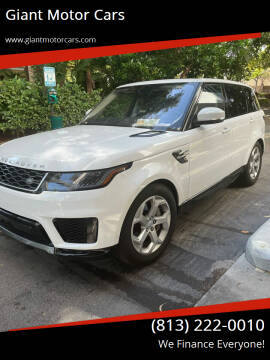 2019 Land Rover Range Rover Sport for sale at Giant Motor Cars in Tampa FL