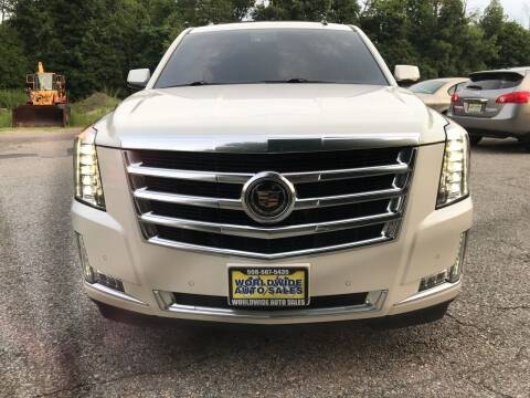 2015 Cadillac Escalade ESV for sale at Worldwide Auto Sales in Fall River MA