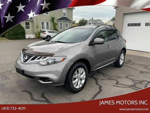 2012 Nissan Murano for sale at James Motors Inc. in East Longmeadow MA