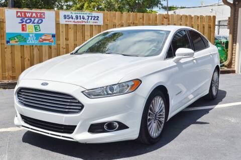 2014 Ford Fusion Hybrid for sale at ALWAYSSOLD123 INC in Fort Lauderdale FL