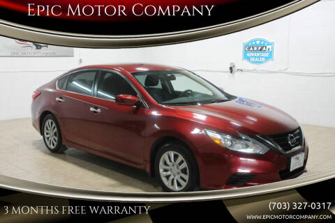 2016 Nissan Altima for sale at Epic Motor Company in Chantilly VA