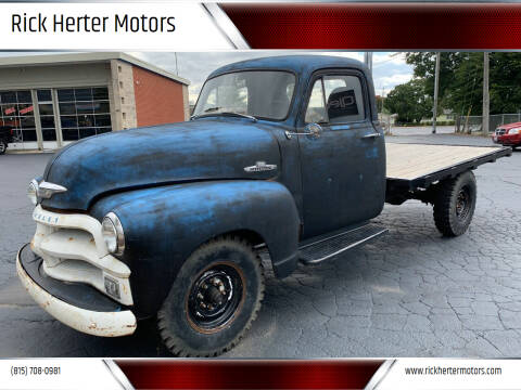 1954 Chevrolet 1 TON STAKE BED for sale at Rick Herter Motors in Loves Park IL