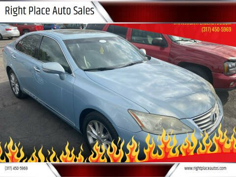 2010 Lexus ES 350 for sale at Right Place Auto Sales in Indianapolis IN