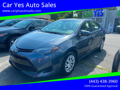 2017 Toyota Corolla for sale at Car Yes Auto Sales in Baltimore MD