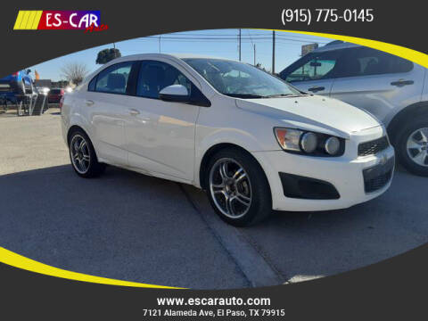 2016 Chevrolet Sonic for sale at Escar Auto in El Paso TX