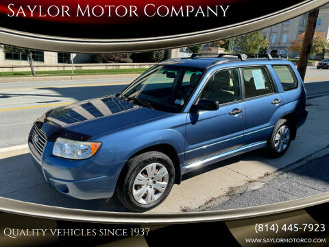 2008 Subaru Forester for sale at Saylor Motor Company in Somerset PA