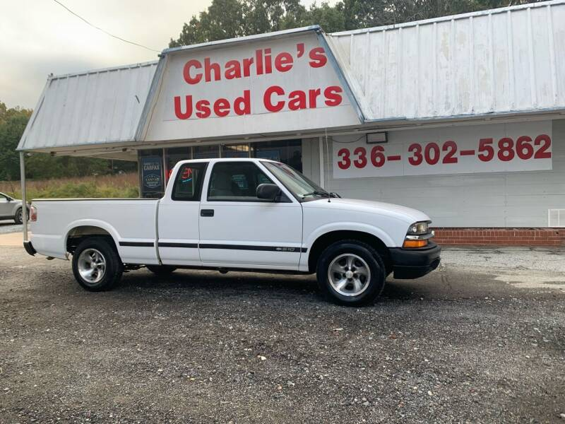 2002 Chevrolet S-10 for sale at Charlie's Used Cars in Thomasville NC