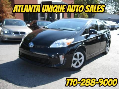 2013 Toyota Prius for sale at Atlanta Unique Auto Sales in Norcross GA