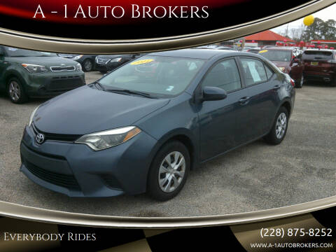2015 Toyota Corolla for sale at A - 1 Auto Brokers in Ocean Springs MS