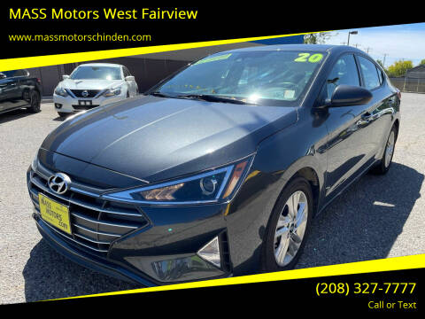 2020 Hyundai Elantra for sale at MASS Motors West Fairview in Boise ID