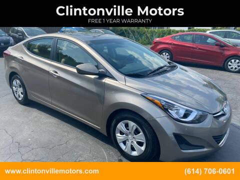 2016 Hyundai Elantra for sale at Clintonville Motors in Columbus OH